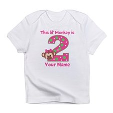 2nd Birthday Monkey Girl Infant T-Shirt