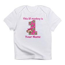 1st Birthday Monkey Girl Infant T-Shirt