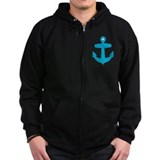 Blue Anchor Zip Hoodie