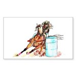 Barrel Racer Sticker (Rectangle 50 pk)