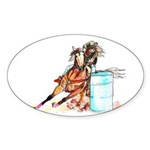 Barrel Racer Sticker (Oval 10 pk)
