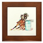 Barrel Racer Framed Tile