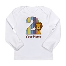 2nd Birthday Lion Long Sleeve Infant T-Shirt
