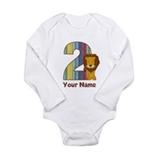 2nd Birthday Lion Long Sleeve Infant Bodysuit