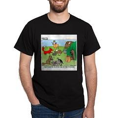 KNOTS Woodland Creatures Cartoon Dark T-Shirt