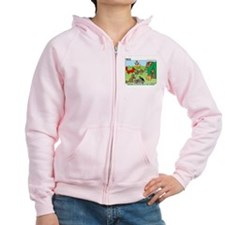 KNOTS Woodland Creatures Cartoon Zipped Hoody