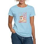 Cherry Blossom Shiba Inu Women's Light T-Shirt