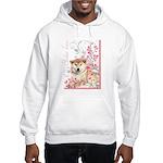 Cherry Blossom Shiba Inu Hooded Sweatshirt