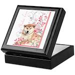 Cherry Blossom Shiba Inu Keepsake Box