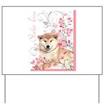 Cherry Blossom Shiba Inu Yard Sign