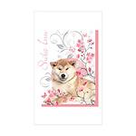 Cherry Blossom Shiba Inu Sticker (Rectangle 10 pk)