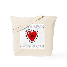 Labrador Retriever Heart Tote Bag