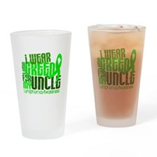 I Wear Lime 6.4 Lymphoma Drinking Glass