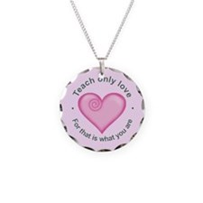 Cute Love teaching Necklace Circle Charm