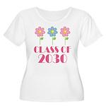 2030 School Class Cute Women's Plus Size Scoop Nec