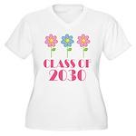 2030 School Class Cute Women's Plus Size V-Neck T-