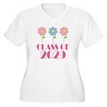 2029 School Class Cute Women's Plus Size V-Neck T-