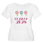 2028 School Class Cute Women's Plus Size Scoop Nec