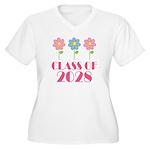 2028 School Class Cute Women's Plus Size V-Neck T-