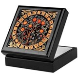 BoxQ Tapestry Box: Orange Tree of Life - Wm Morris