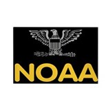 NOAA Captain<BR> Rectangle Magnet