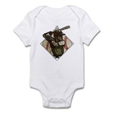 Baseball Diamond Batter Infant Bodysuit