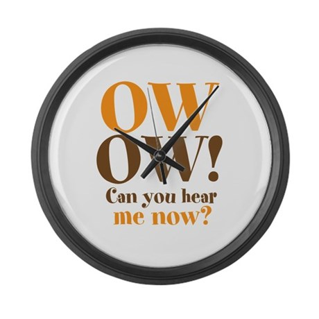 OW! OW! Large Wall Clock