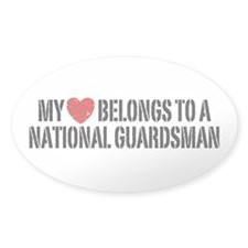 My Heart National Guardsman Decal