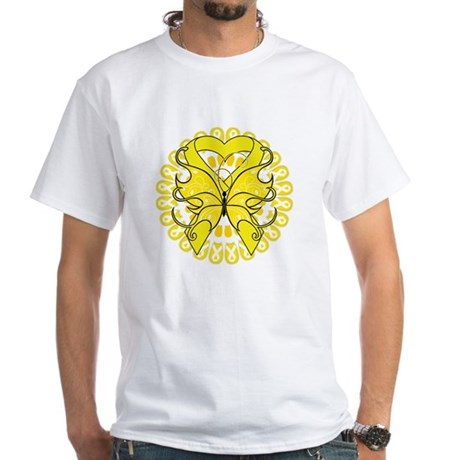 Butterfly Ewing Sarcoma White T-Shirt