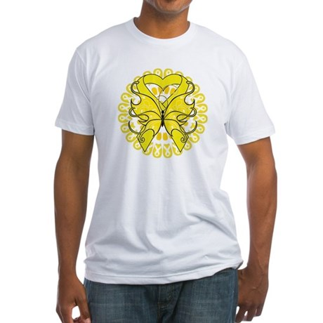 Butterfly Ewing Sarcoma Fitted T-Shirt