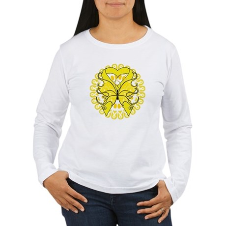 Butterfly Ewing Sarcoma Women's Long Sleeve T-Shir