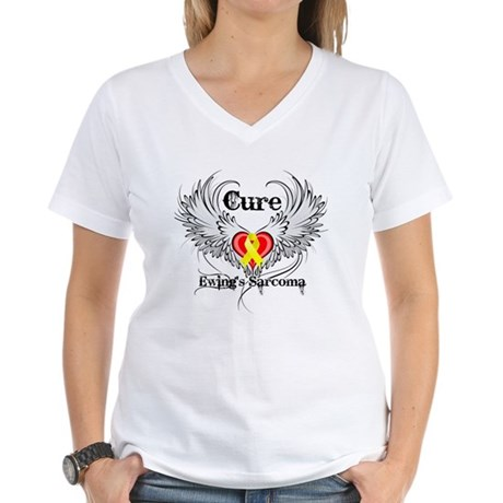 Cure Ewing Sarcoma Women's V-Neck T-Shirt