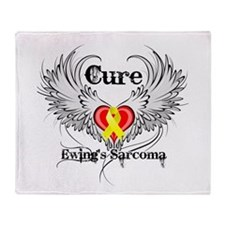 Cure Ewing Sarcoma Throw Blanket