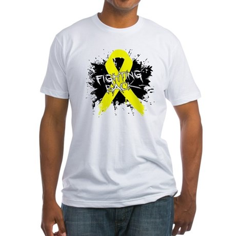 Fighting Back Ewing Sarcoma Fitted T-Shirt