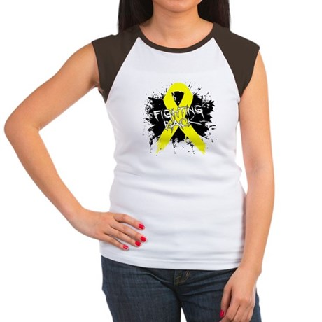 Fighting Back Ewing Sarcoma Women's Cap Sleeve T-S