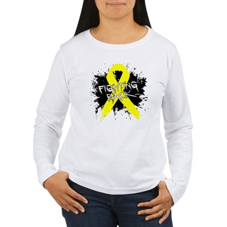 Fighting Back Ewing Sarcoma Women's Long Sleeve T-
