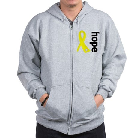 Hope Ribbon Ewing Sarcoma Zip Hoodie