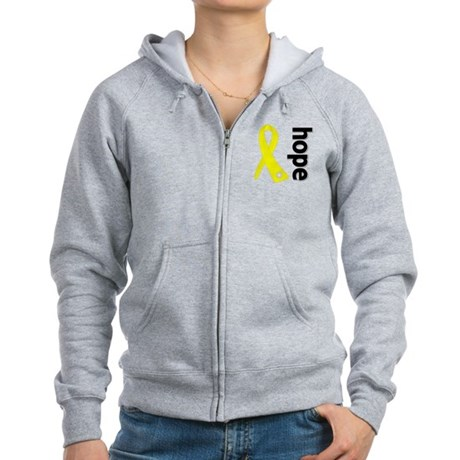 Hope Ribbon Ewing Sarcoma Women's Zip Hoodie