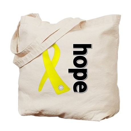 Hope Ribbon Ewing Sarcoma Tote Bag