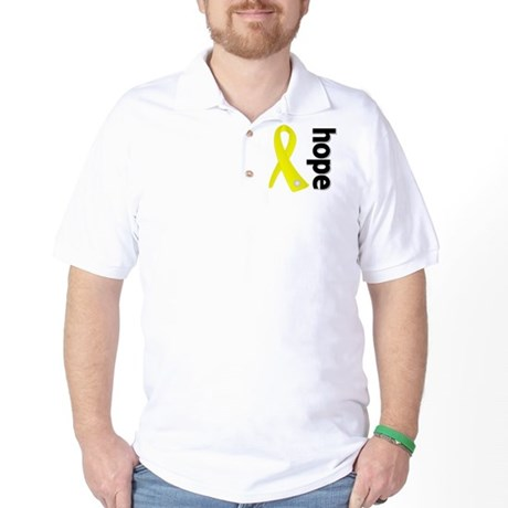 Hope Ribbon Ewing Sarcoma Golf Shirt
