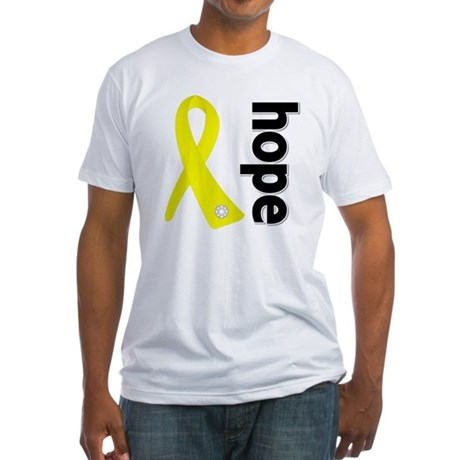 Hope Ribbon Ewing Sarcoma Fitted T-Shirt