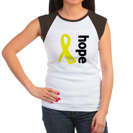 Hope Ribbon Ewing Sarcoma Women's Cap Sleeve T-Shi