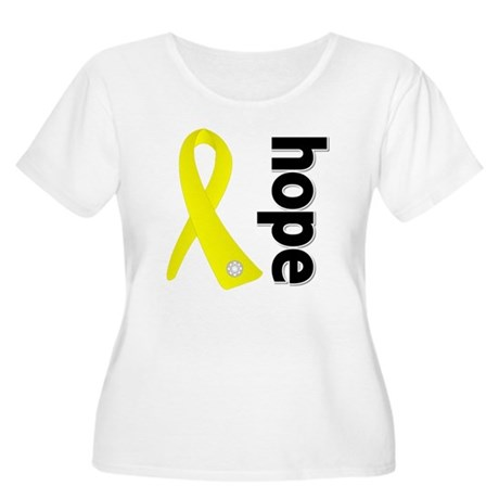 Hope Ribbon Ewing Sarcoma Women's Plus Size Scoop
