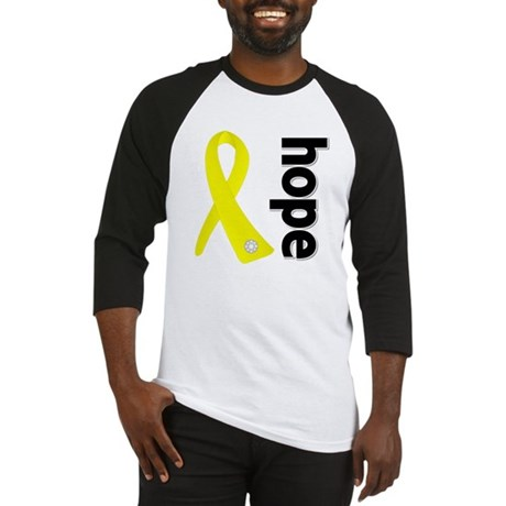 Hope Ribbon Ewing Sarcoma Baseball Jersey