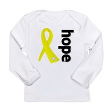 Hope Ribbon Ewing Sarcoma Long Sleeve Infant T-Shi