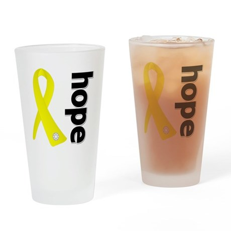 Hope Ribbon Ewing Sarcoma Drinking Glass