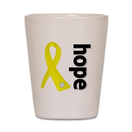 Hope Ribbon Ewing Sarcoma Shot Glass