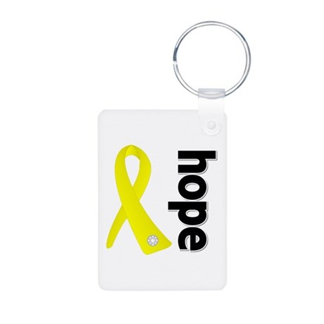 Hope Ribbon Ewing Sarcoma Aluminum Photo Keychain