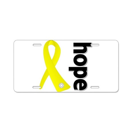 Hope Ribbon Ewing Sarcoma Aluminum License Plate