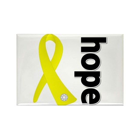 Hope Ribbon Ewing Sarcoma Rectangle Magnet (100 pa
